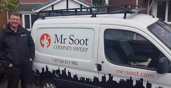 Wigan and Stockport chimney sweep Mr Soot