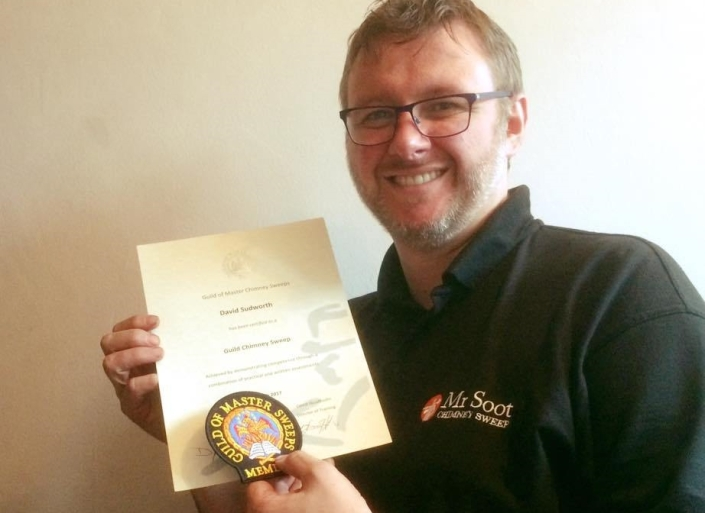Wigan and Stockport Guild of Master Sweep member Mr Soot