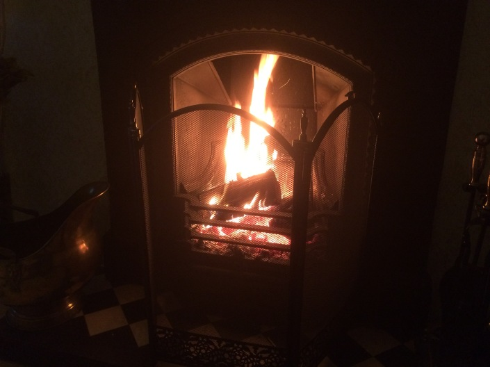 An open fire