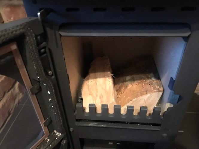 Logs in a stove
